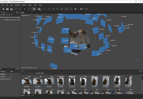 Photogrammetry Testing: Agisoft Metashape [commercial